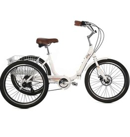 EVO, Latitude Folding Trike, 8-Speed, Alpine White, Universal One-Size