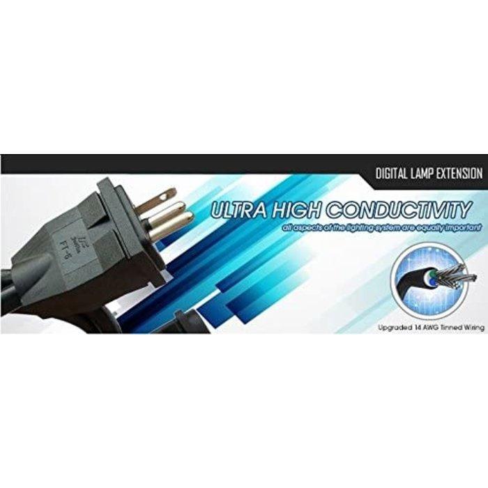 Solis Tek 15ft Extension cord 600v/14AWG Tinned wire
