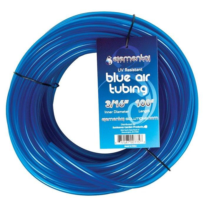"Elemental Solutions O2 Blue Air Tubing 3/16"", 100"