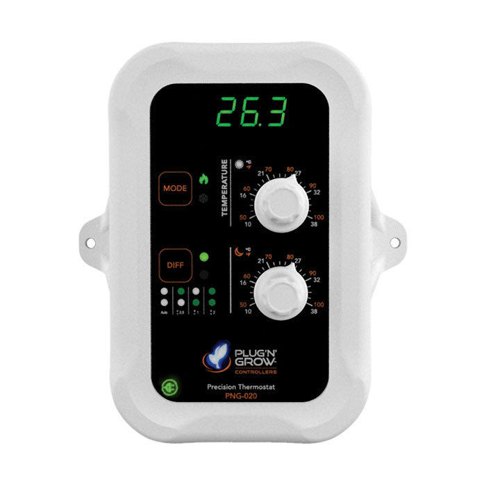 Day and Night temperature controller with display