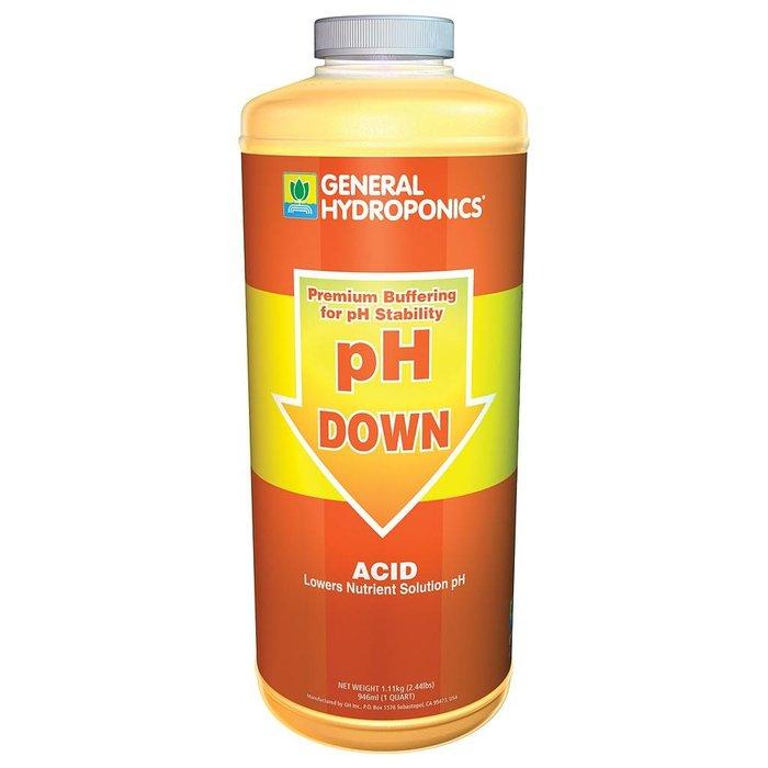 General Hydroponics pH Down, qt