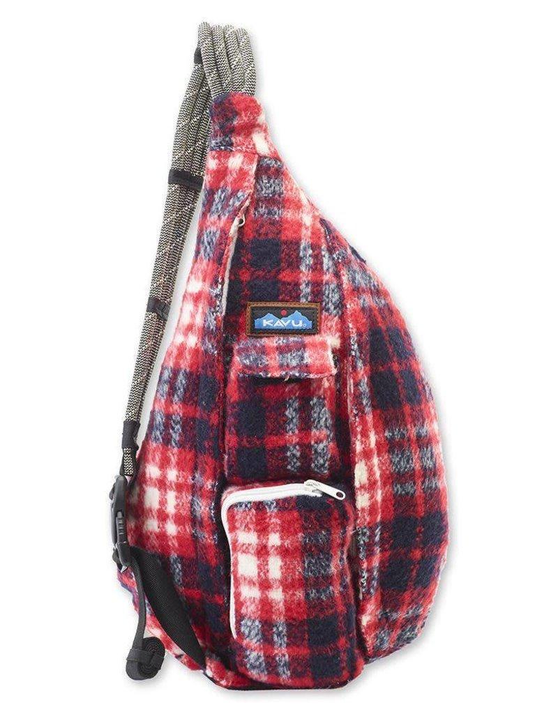 Kavu Kavu Plaid Rope Bag