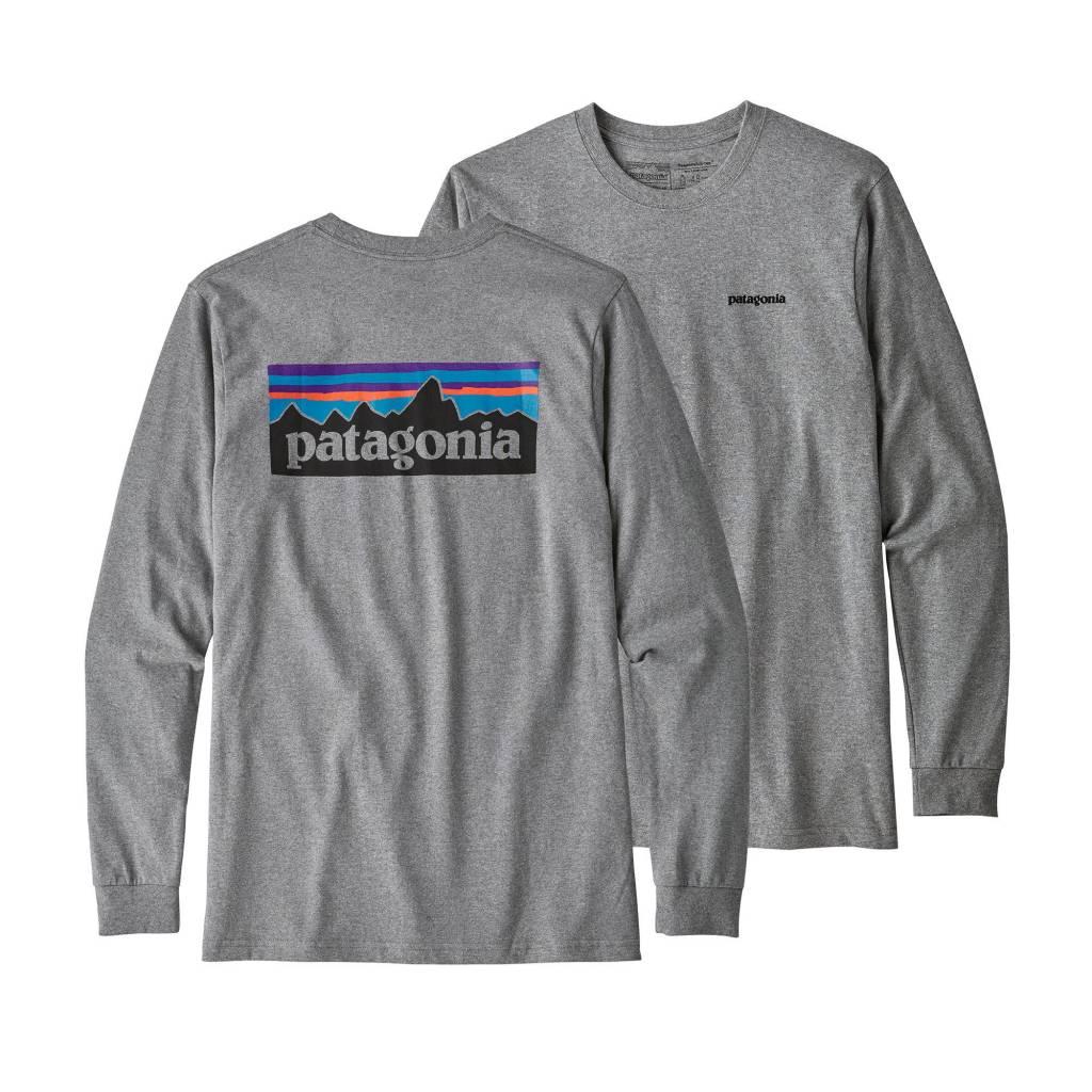 Patagonia Men's Long-Sleeved P-6 Logo Responsibili-Tee