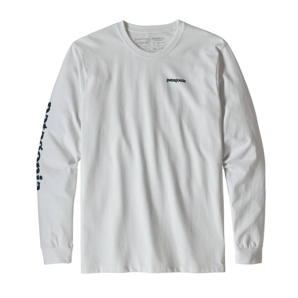 Patagonia Men's Long-Sleeved Text Logo Responsibili-Tee