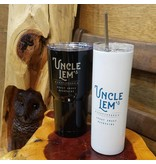 Uncle Lem's UL's White Tumbler with Metal Straw