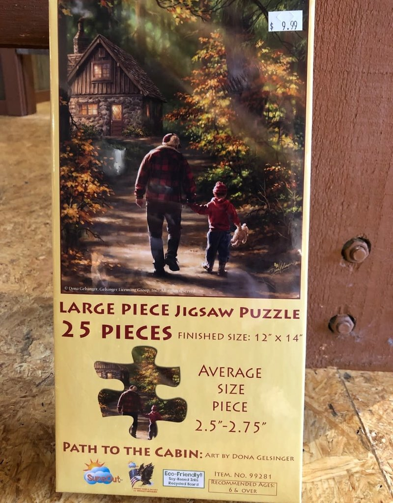 25 Piece Puzzle: Path to the Cabin