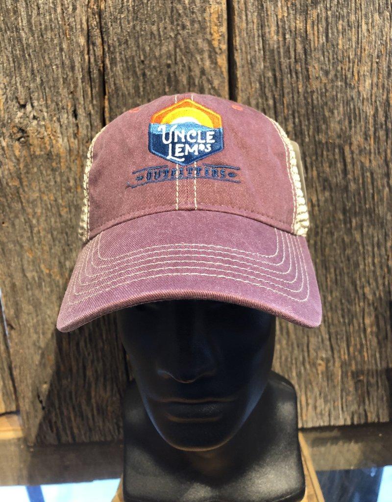 Uncle Lem's Ouray, Legend Vintage Wash Trucker Cap, Burnt Henna / Khaki