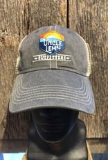 Uncle Lem's Ouray, UL Legend Vintage Wash Trucker Hat, Charcoal/Khaki