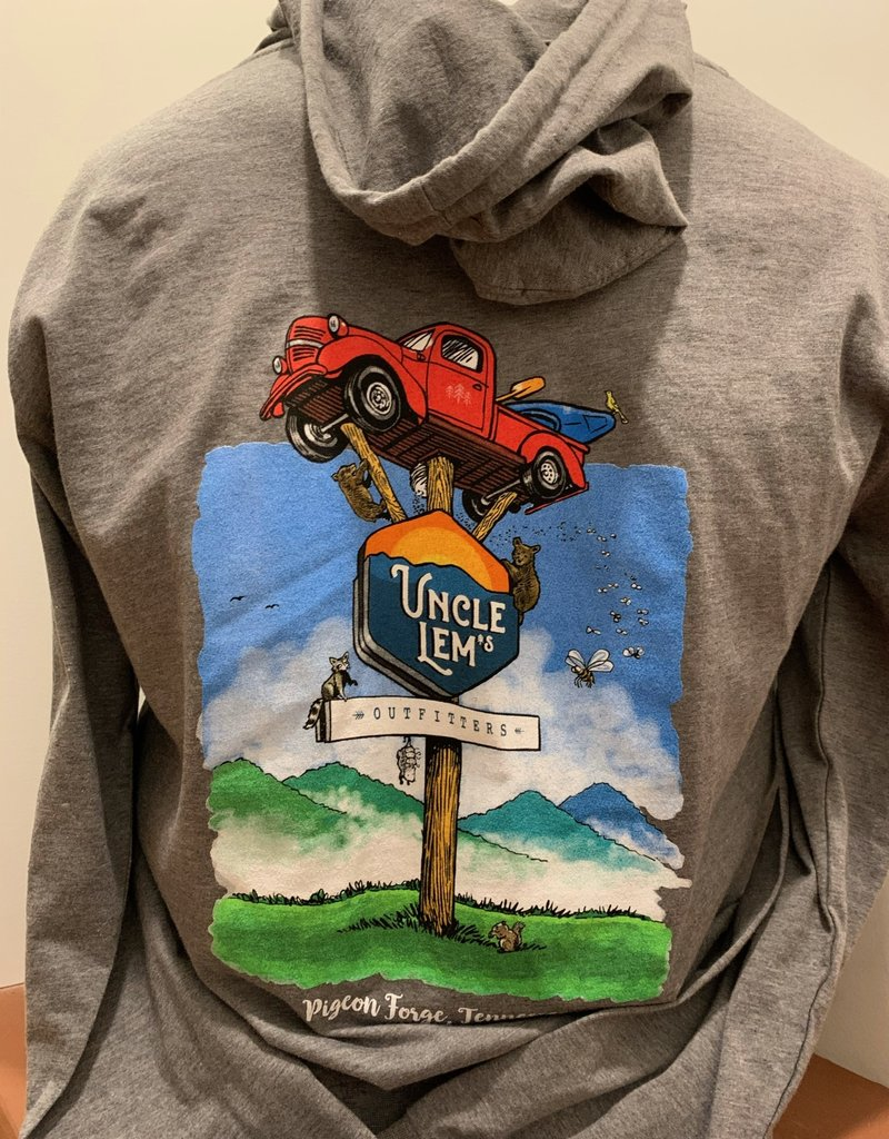 Uncle Lem's Truck Hooded Zip T-Shirt