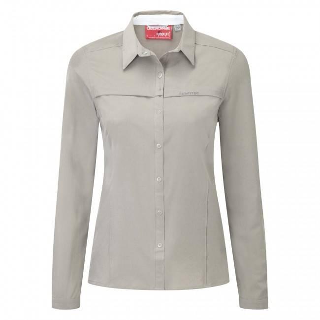 Craghoppers NLife Pro Long Sleeve Shirt Mushroom - Women's