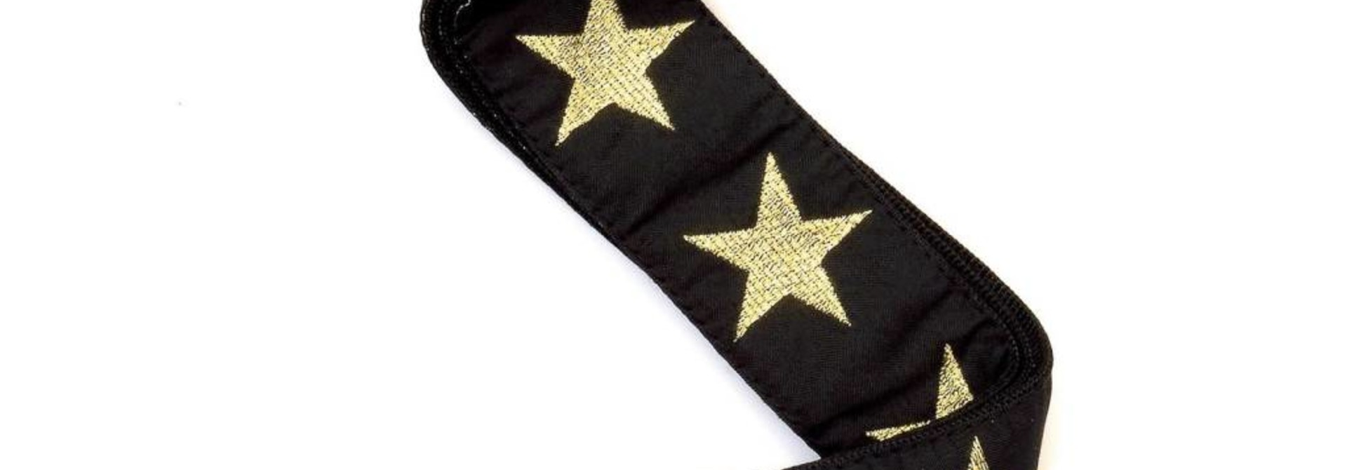 Woven gold star strap