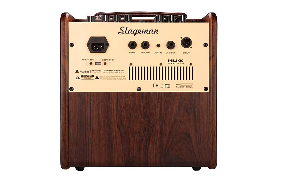 NUX NUX Stageman AC-50 Acoustic Guitar Amplifier with Effect