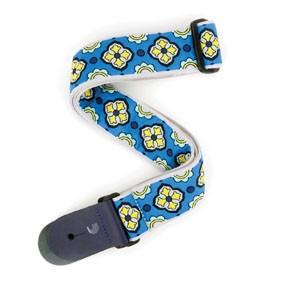 D'addario  Blue/ Navy/ Yellow Woven Latin Tile-1