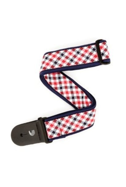 D'addario  Woven Gingham Red/ Navy