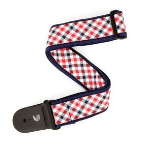 D'addario  Woven Gingham Red/ Navy-1