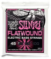 Ernie Ball Flatwound Cobalt Super Slinky Bass Strings (45-100) 2814-1