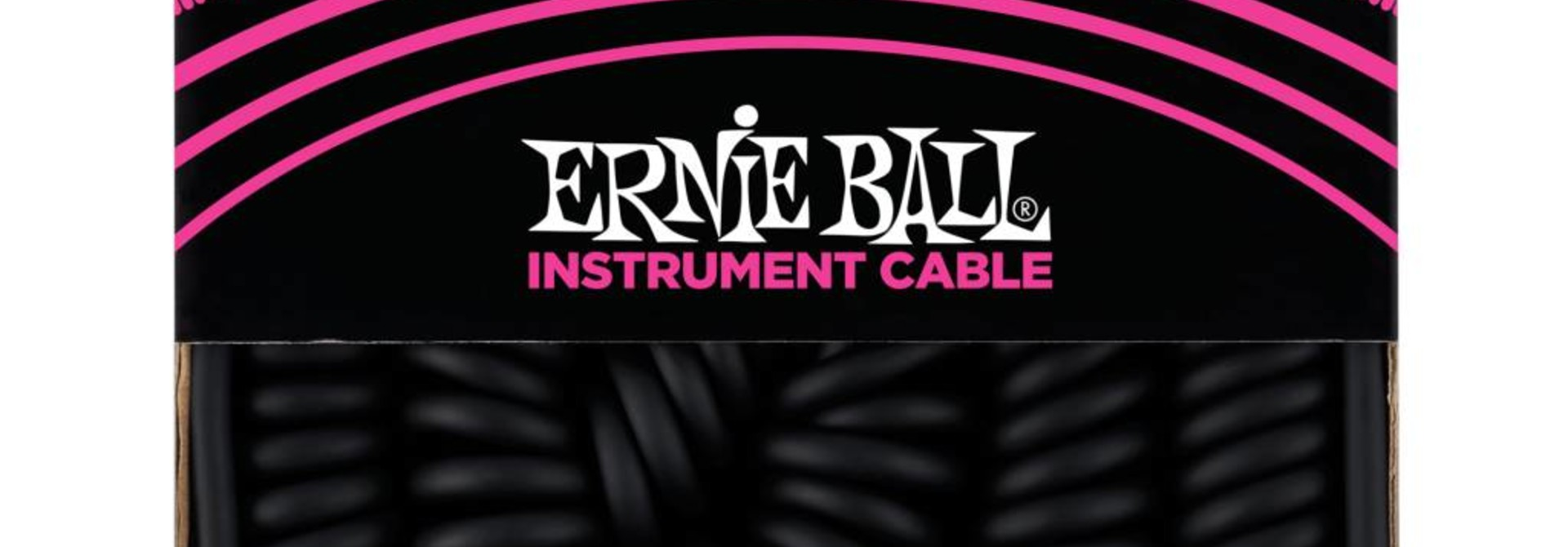 Ernie Ball Instrument Cable 30 ft Coiled Straight/ Straight