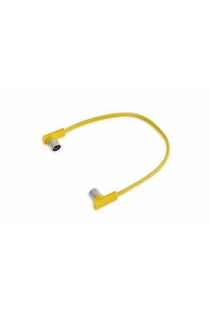 """RockBoard  Flat Midi Cable 11 13/16"""" ( Yellow)"""