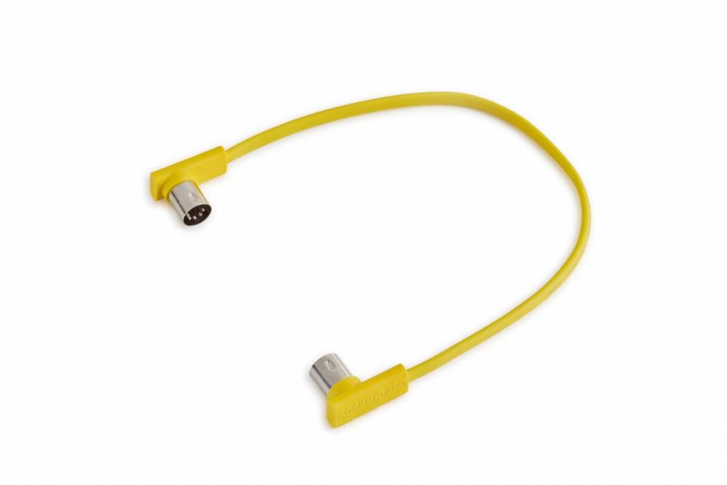"""RockBoard  Flat Midi Cable 11 13/16"""" ( Yellow)-1"""