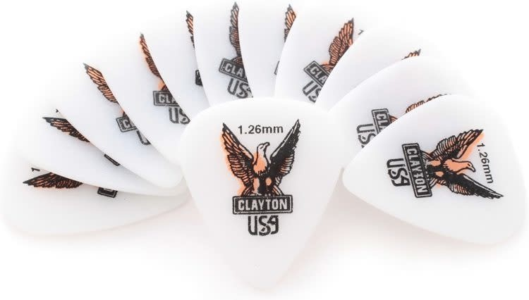 Clayton 1.26mm pick 12-pack-1