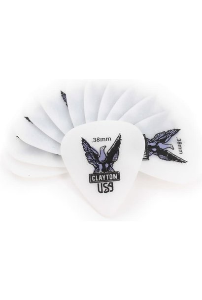 Clayton .38mm pick 12-pack