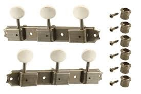 """Allparts """"aged"""" 3 on a plate tuning Machines-1"""