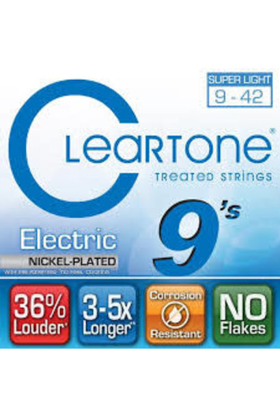 Cleartone Super Light 9-42 Electric Strings