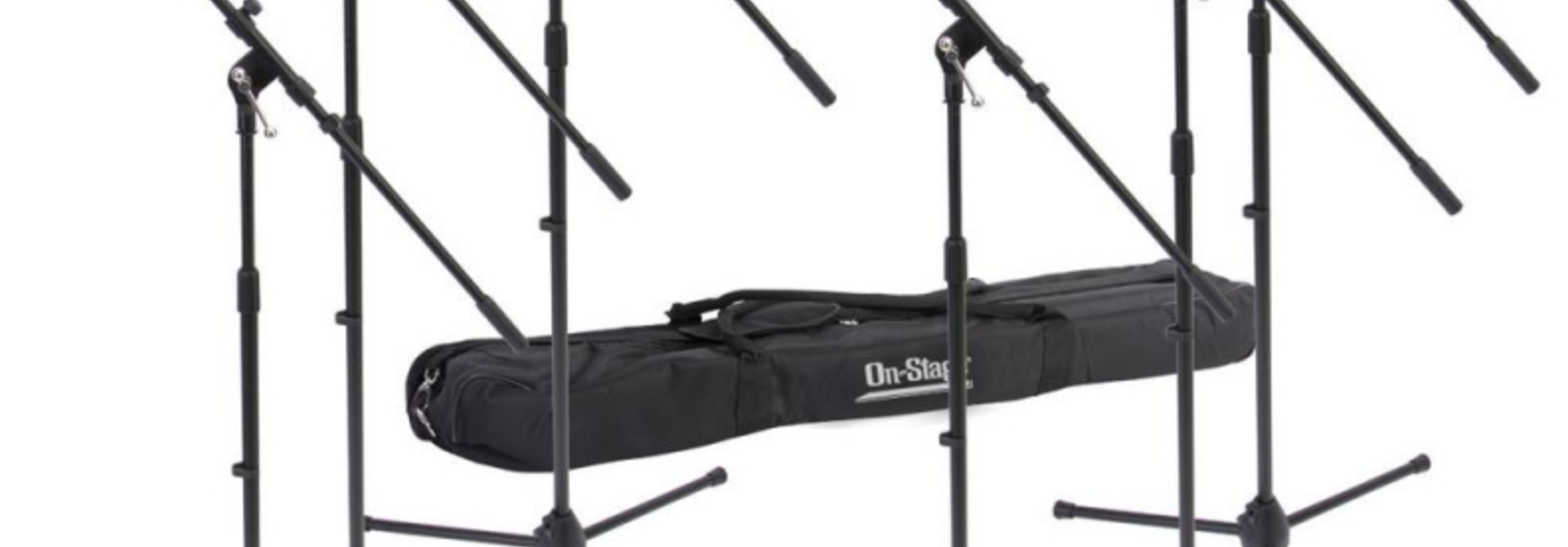 On-Stage Euro Boom Microphone Stand 6-Pack w/ Bag MSP7706