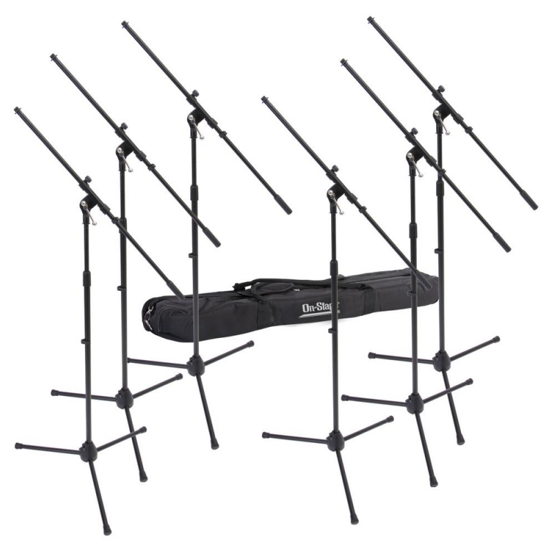 On-Stage Euro Boom Microphone Stand 6-Pack w/ Bag MSP7706-1