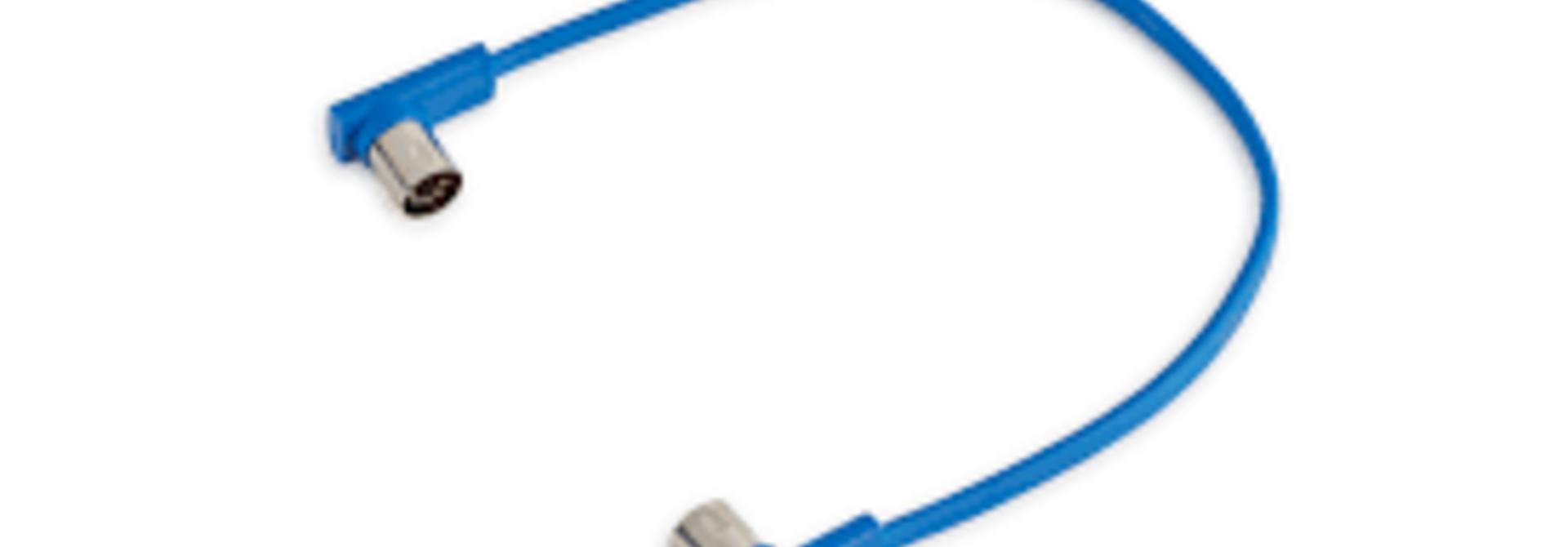 "RockBoard Flat Midi Cable 11 13/16"" ( Blue)"