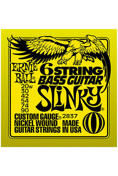 Ernie Ball 6-String Slinky Bass-Guitar Strings (20w-90) 2837