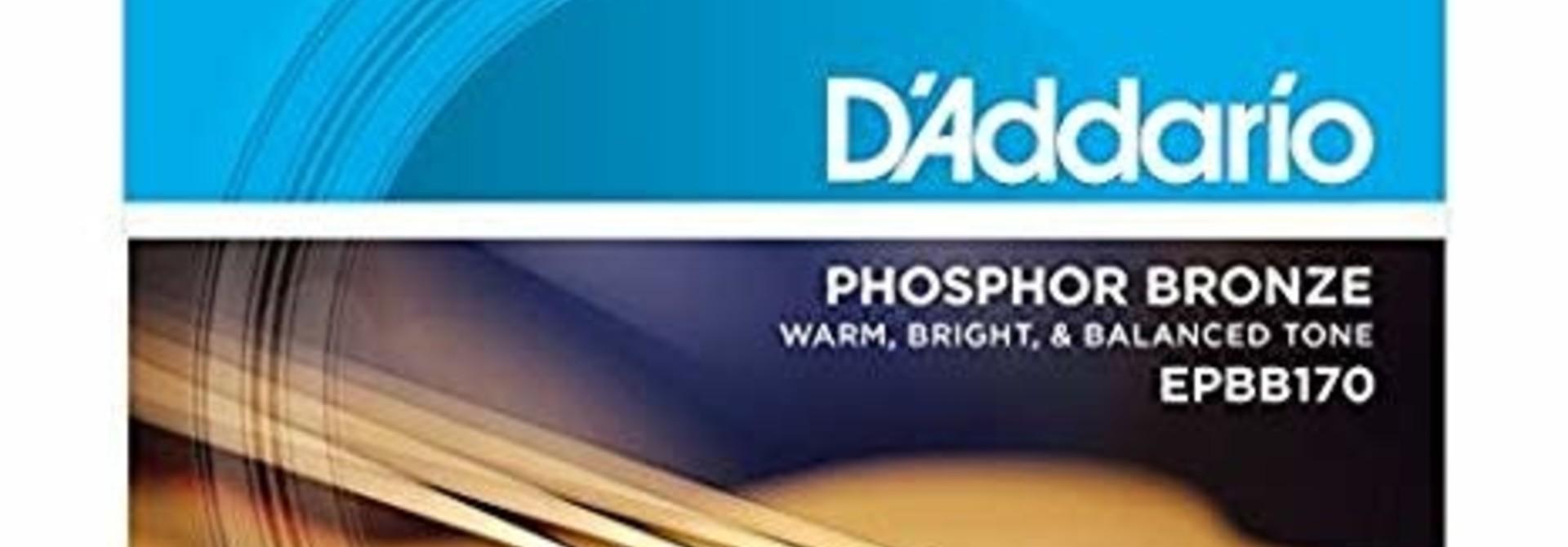 D'addario EPBB170 Phos/Bron Acoustic Bass Strings