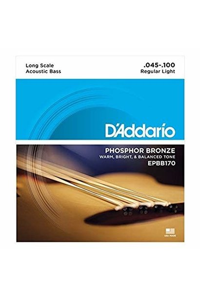 D'addario EPBB170 Phos/Bron Acoustic Bass Strings