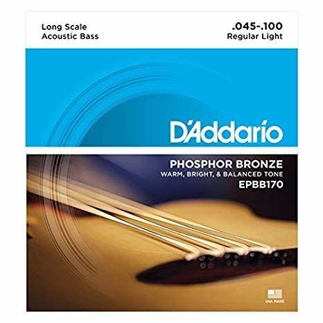 D'addario EPBB170 Phos/Bron Acoustic Bass Strings-1