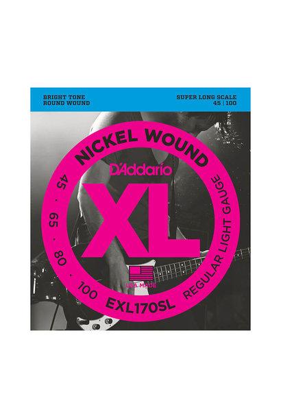 D'addario EXL170SL Nickel Wound, Bass Light, Super Long Scale, 45-100