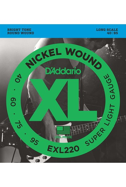 D'addario EXL220 Nickel Wound, Bass Super Light, 40-95, Long Scale