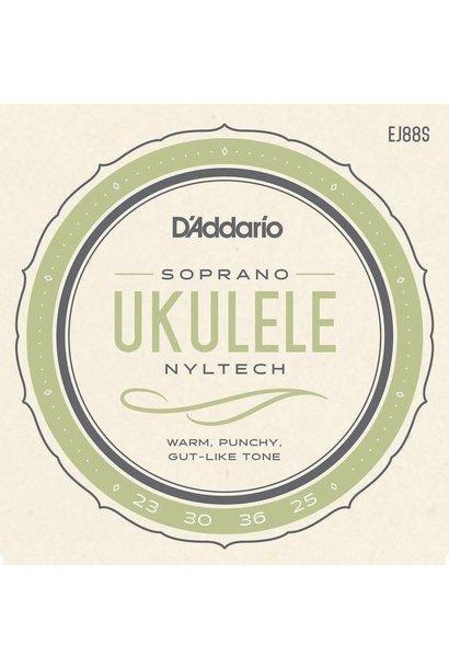 D'addario EJ88S Ukulele NYLTech, Soprano