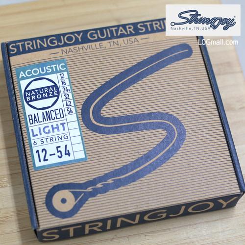 Stringjoy Balanced Light Acoustic Guitar Strings (12-54) SJ-NB1254-1