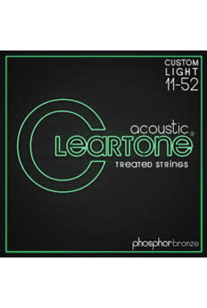 Cleartone Treated Phos/Bro Custom Light Acoustic Guitar Strings (11-52)