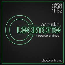 Cleartone Treated Phos/Bro Custom Light Acoustic Guitar Strings (11-52)-1