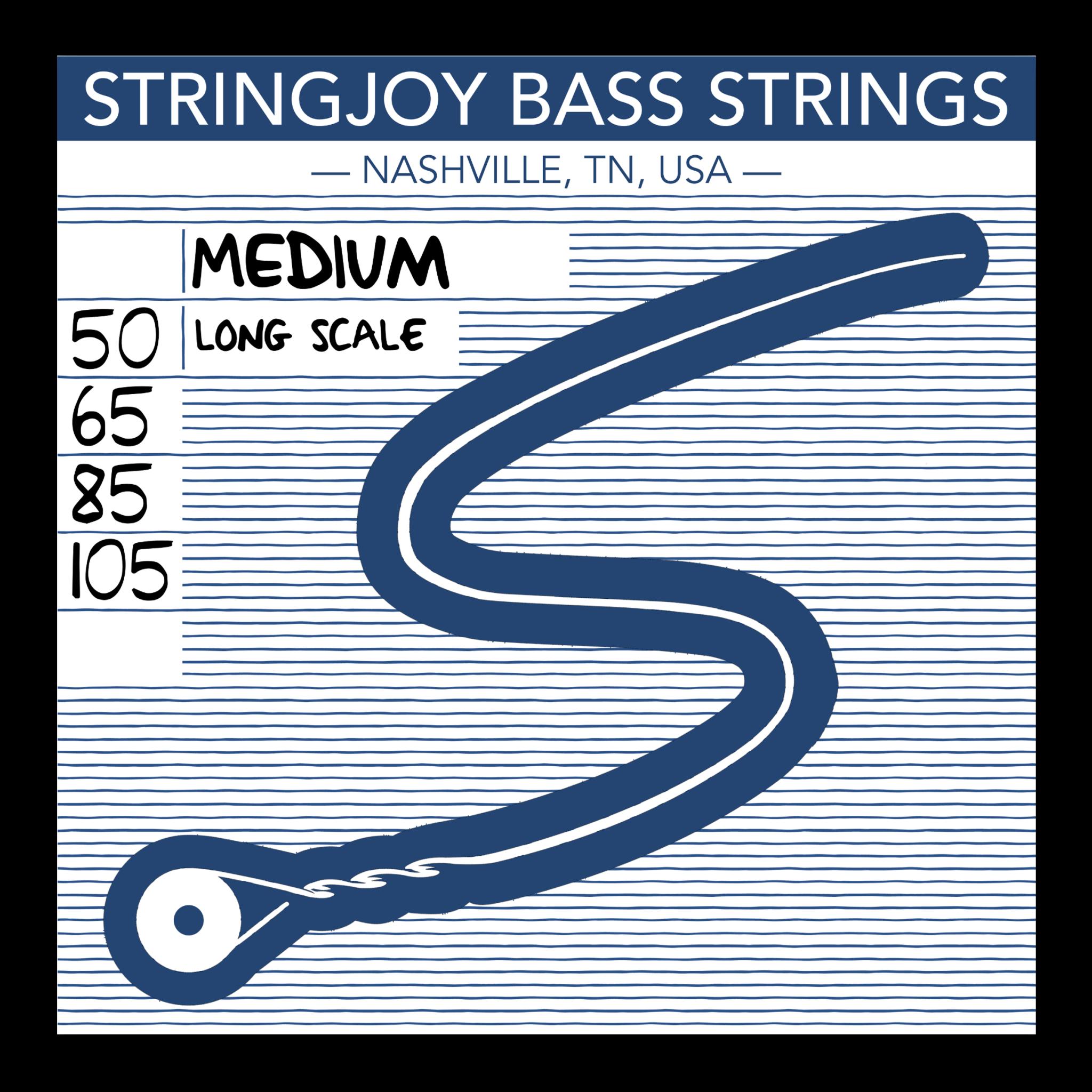 Stringjoy Bass Medium Bass Strings (50-105) SJ-BA50105-1