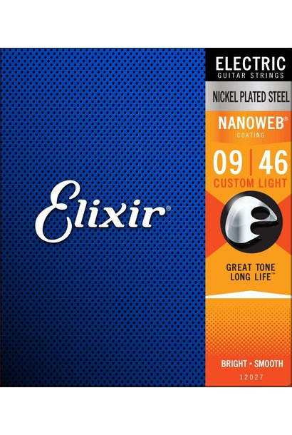 Elixir Nanoweb Nickel Custom Light Electric Guitar Strings (09-46) 12027