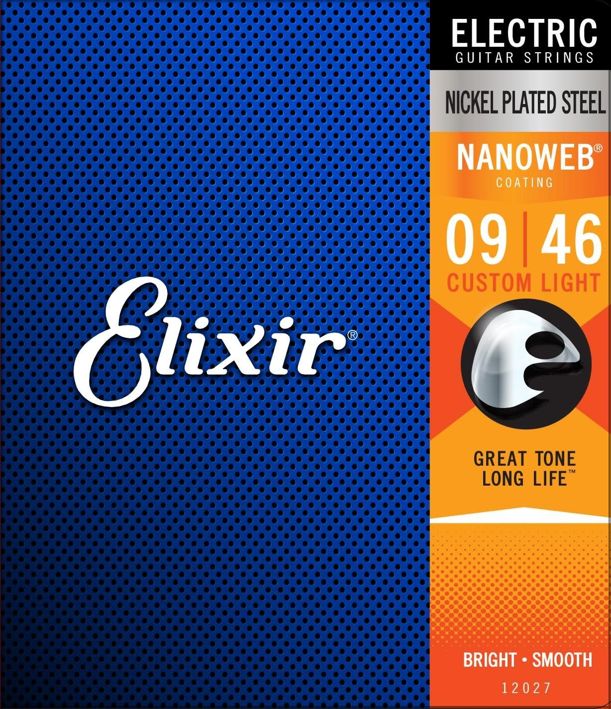 Elixir Nanoweb Nickel Custom Light Electric Guitar Strings (09-46) 12027-1