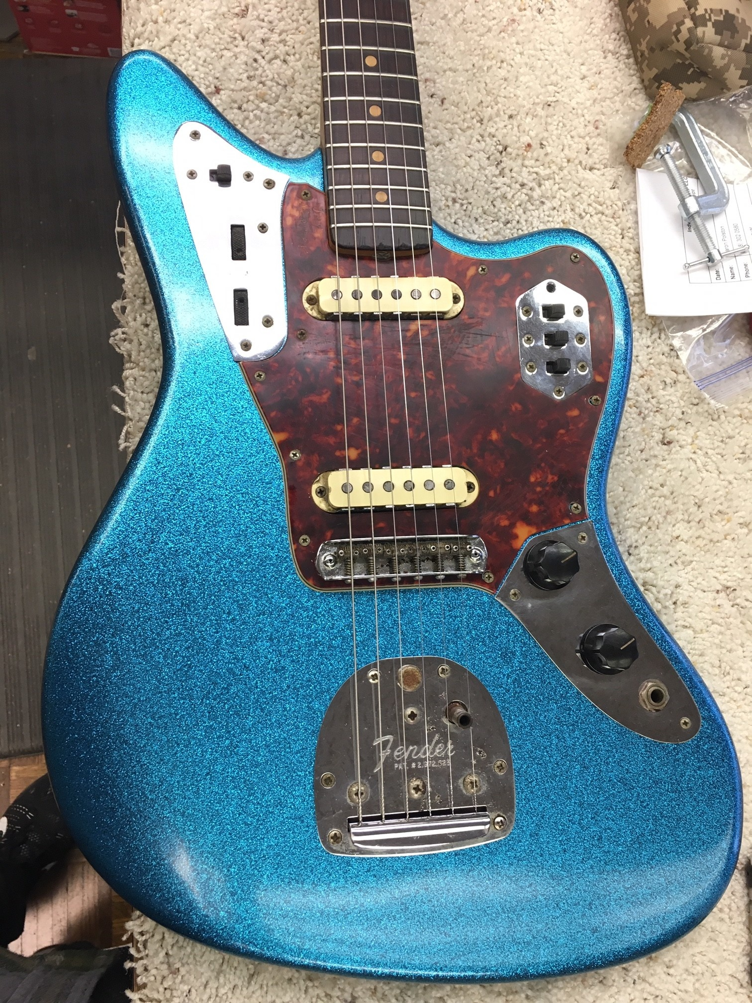 1962 Fender Jaguar Refin-1
