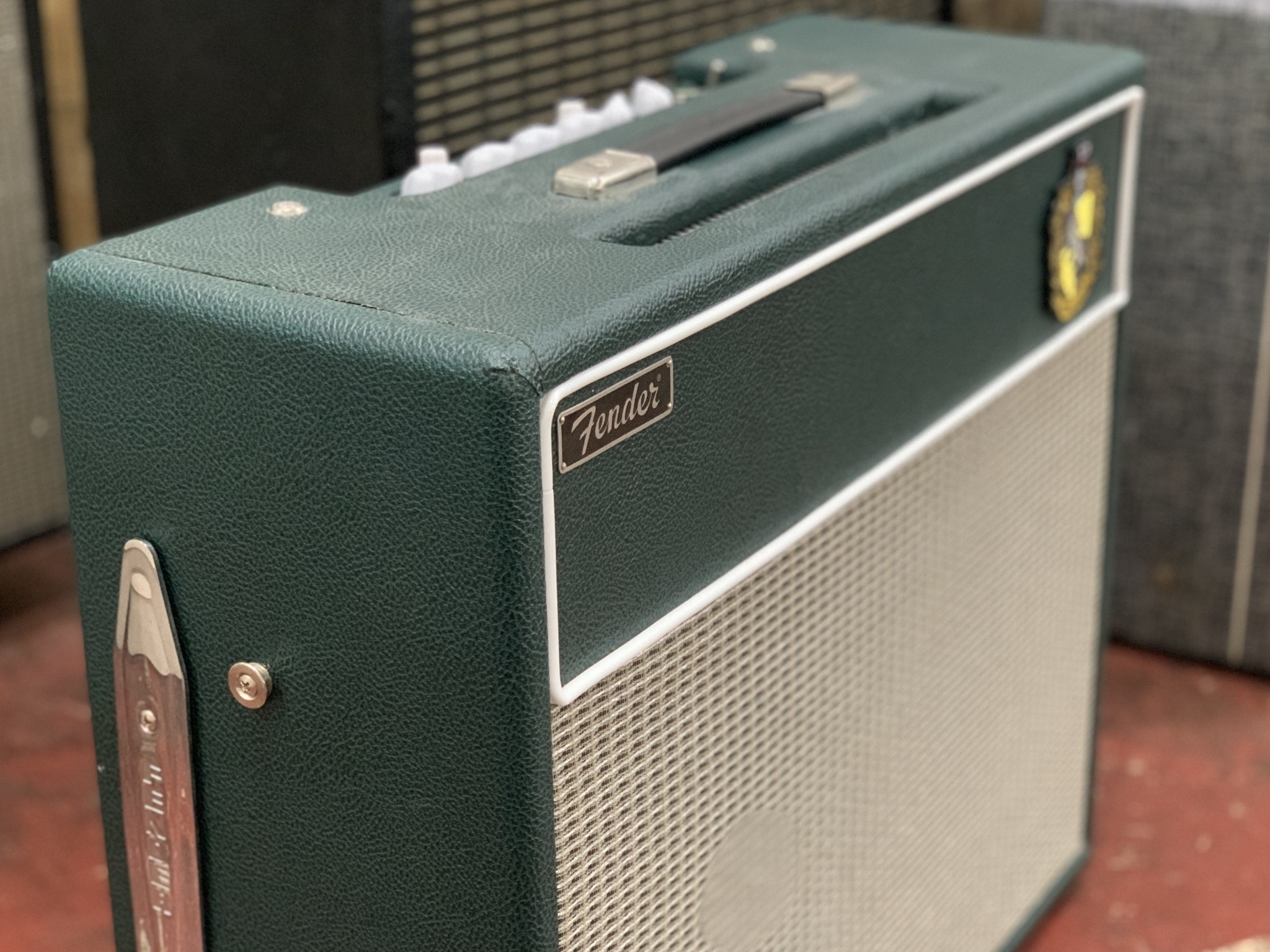 """Hufflepuff"" Fender Blues Junior 2x10 (re-housed)-1"