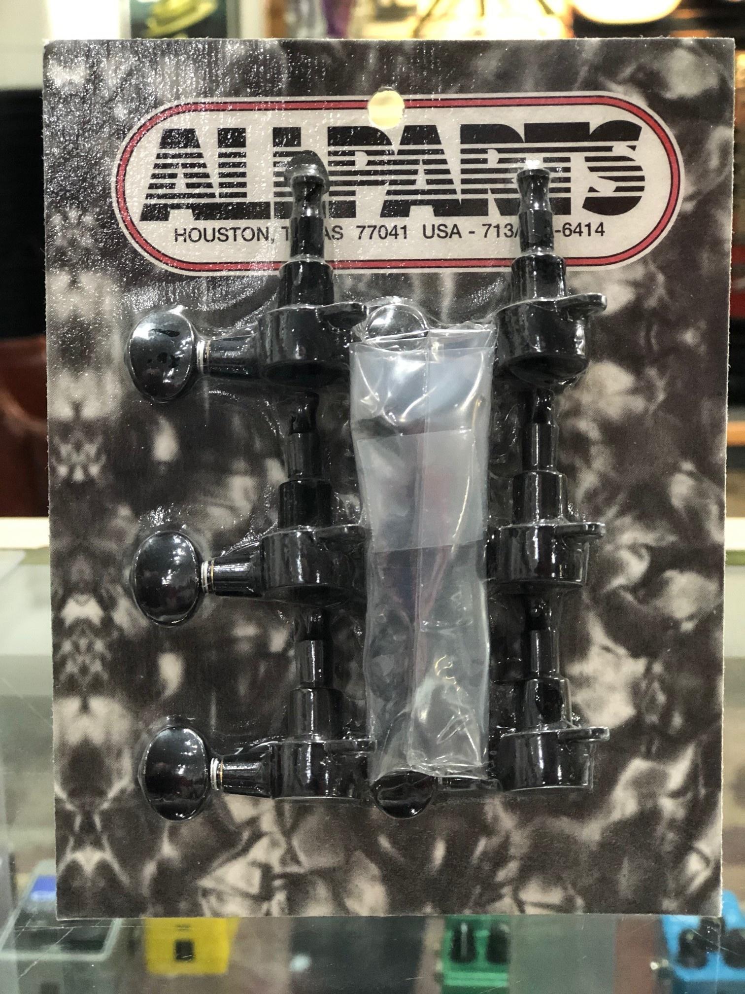 Allparts Gotoh mini-tuning keys 6-in-line (Black)-1