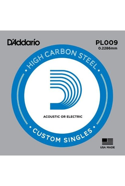 D'addario .009 High Carbon Steel single 5-pack