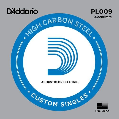 D'addario .009 High Carbon Steel single 5-pack-1