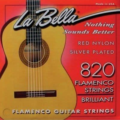 La Bella 820 Red Nylon Silver Plated Flamenco Guitar Strings-1
