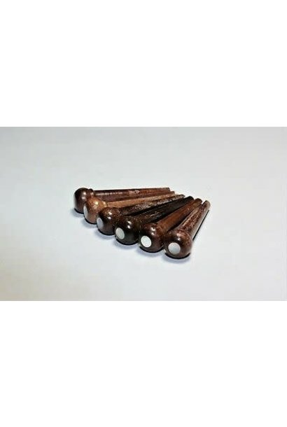 Rosewood Bridge Pin w/MOP dot